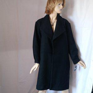 Nwt $159 MARC NEW YORK Black Open Front Coat M/L